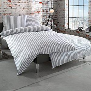 Hübsche Bettwäsche aus Batist - grau 135x200 von Bettwaesche-mit-Stil