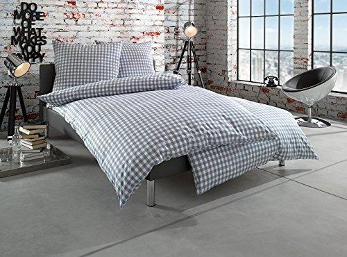 Schöne Bettwäsche aus Batist - grau 155x220 von Bettwaesche-mit-Stil