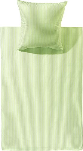 Kuschelige Bettwäsche aus Batist - grün 135x200 von Brennet