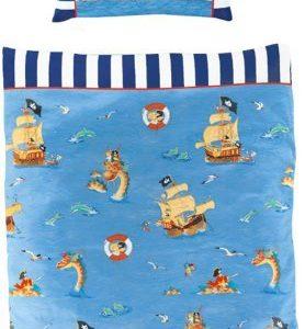 Kuschelige Bettwäsche aus Baumwolle - blau 100x135 von Capt'n Sharky
