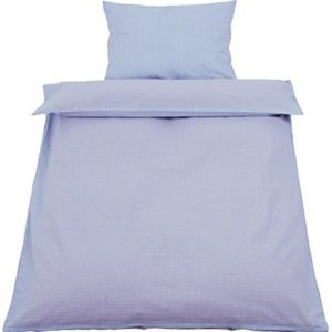 Traumhafte Bettwäsche aus Baumwolle - blau 100x135 von Hans-Textil-Shop