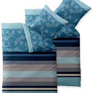 Schöne Bettwäsche aus Baumwolle - blau 135x200 von aqua-textil