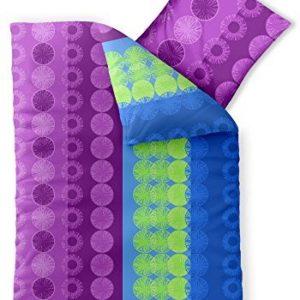 Traumhafte Bettwäsche aus Baumwolle - blau 135x200 von aqua-textil