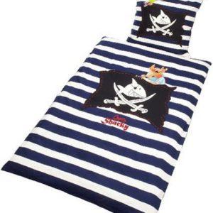 Schöne Bettwäsche aus Baumwolle - blau 135x200 von Bierbaum