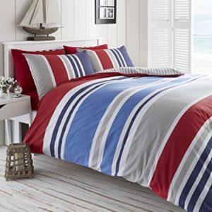 Hübsche Bettwäsche aus Baumwolle - blau 135x200 von DE CAMA