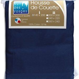 Schöne Bettwäsche aus Baumwolle - blau 140x200 von Nuit des Vosges