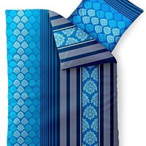 Traumhafte Bettwäsche aus Baumwolle - blau 155x220 von aqua-textil