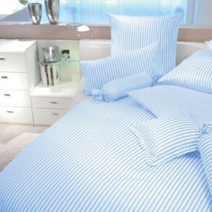 Schöne Bettwäsche aus Baumwolle - blau 155x220 von Janine Design