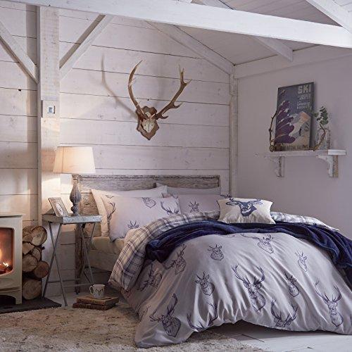 Kuschelige Bettwäsche aus Baumwolle - blau 200x200 von Duvet Cover Set