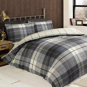 Hübsche Bettwäsche aus Baumwolle - blau 200x200 von elinens