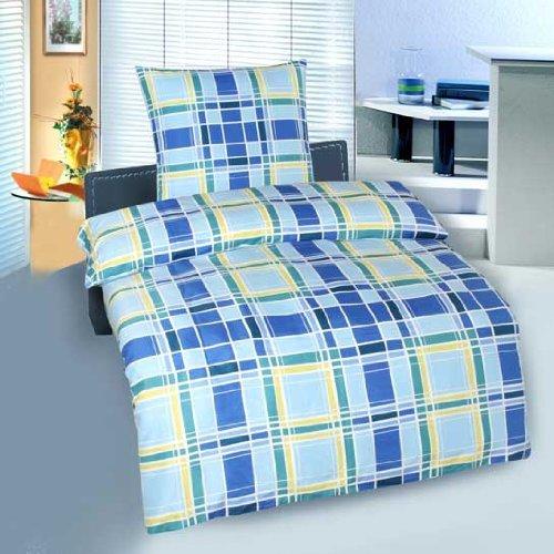 Hübsche Bettwäsche aus Baumwolle - blau 200x200 von Magita