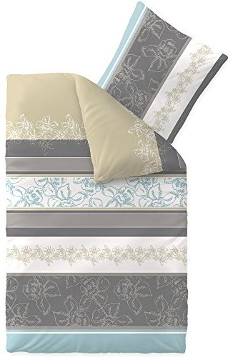 sch ne bettw sche aus baumwolle grau 135x200 von aqua textil bettw sche. Black Bedroom Furniture Sets. Home Design Ideas