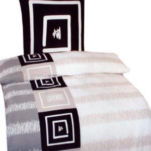 Traumhafte Bettwäsche aus Baumwolle - grau 135x200 von Leonado Vicenti