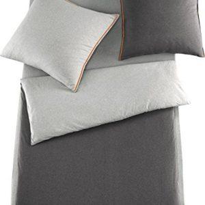 Traumhafte Bettwäsche aus Baumwolle - grau 135x200 von Schlafgut