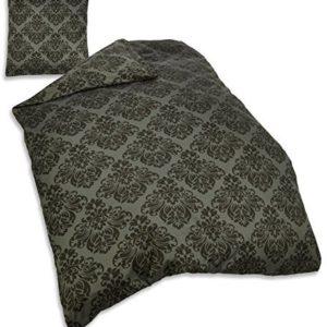 Hübsche Bettwäsche aus Baumwolle - grau 135x200 von Sun Garden