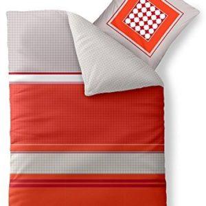 Kuschelige Bettwäsche aus Baumwolle - grau 155x220 von aqua-textil