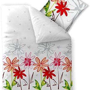 Hübsche Bettwäsche aus Baumwolle - grau 155x220 von aqua-textil