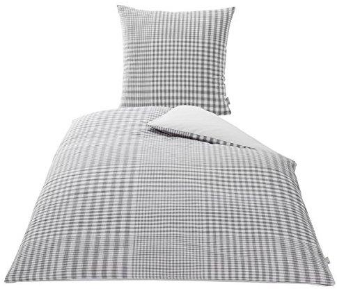Traumhafte Bettwäsche aus Baumwolle - grau 155x220 von KBT Cotton Plus