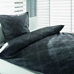 Hübsche Bettwäsche aus Baumwolle - grau 155x220 von Sun Garden