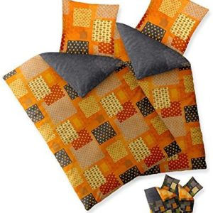 Kuschelige Bettwäsche aus Baumwolle - grün 135x200 von aqua-textil