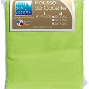 Hübsche Bettwäsche aus Baumwolle - grün 140x200 von Nuit des Vosges
