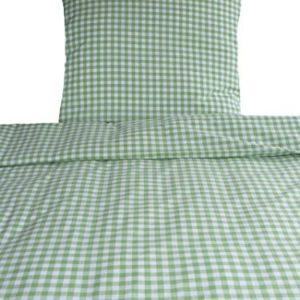 Kuschelige Bettwäsche aus Baumwolle - grün 155x220 von Bettendreams