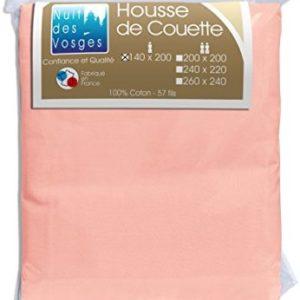 Kuschelige Bettwäsche aus Baumwolle - rosa 140x200 von Nuit des Vosges
