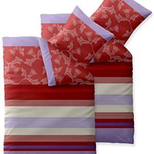 Schöne Bettwäsche aus Baumwolle - rot 135x200 von aqua-textil