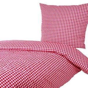 Traumhafte Bettwäsche aus Baumwolle - rot 135x200 von Hans-Textil-Shop