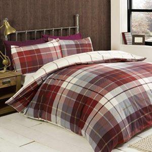 Kuschelige Bettwäsche aus Baumwolle - rot 200x200 von elinens