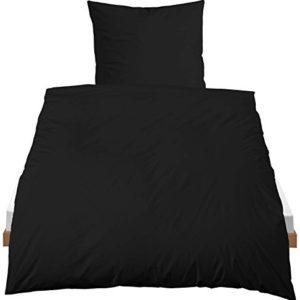 Kuschelige Bettwäsche aus Baumwolle - schwarz 135x200 von Castell