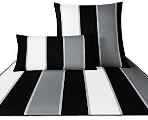 Schöne Bettwäsche aus Baumwolle - schwarz 155x200 von Joop