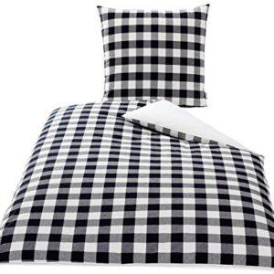 Hübsche Bettwäsche aus Baumwolle - schwarz 155x220 von KBT Cotton Plus