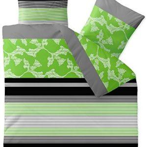 Traumhafte Bettwäsche aus Baumwolle - schwarz 200x200 von aqua-textil