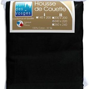 Traumhafte Bettwäsche aus Baumwolle - schwarz 220x240 von Nuit des Vosges