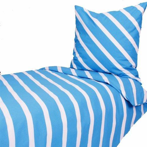 Traumhafte Bettwäsche aus Baumwolle - türkis 135x200 von Hans-Textil-Shop