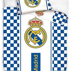 Kuschelige Bettwäsche aus Baumwolle - weiß 140x200 von Real Madrid F.C.