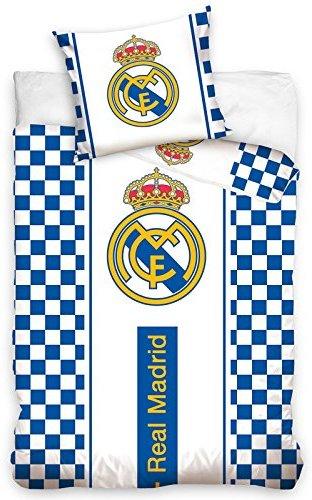 Kuschelige Bettwäsche Aus Baumwolle Weiß 140x200 Von Real Madrid