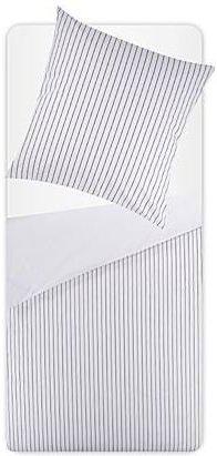 Hübsche Bettwäsche aus Baumwolle - weiß 155x220 von
