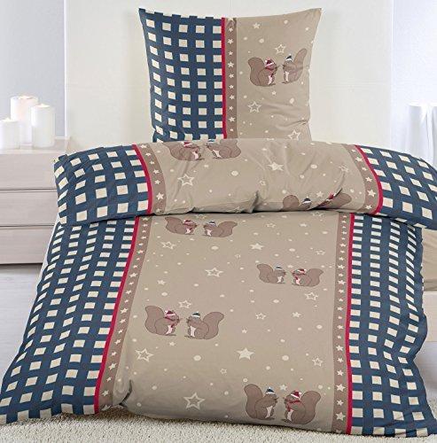 kuschelige bettw sche aus biber blau 135x200 von kh. Black Bedroom Furniture Sets. Home Design Ideas
