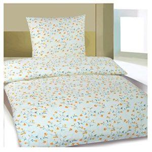 Kuschelige Bettwäsche aus Biber - gelb 155x220 von Frottier Heimtexhandel