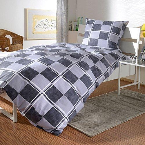kuschelige bettw sche aus biber grau 155x220 von. Black Bedroom Furniture Sets. Home Design Ideas