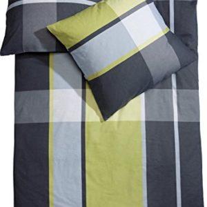 Kuschelige Bettwäsche aus Biber - grün 155x200 von Erwin Müller