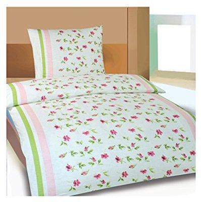 traumhafte bettw sche aus biber rosa 155x220 von. Black Bedroom Furniture Sets. Home Design Ideas