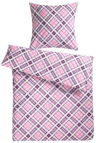 traumhafte bettw sche aus biber rosa 155x220 von genie e den schlaf bettw sche. Black Bedroom Furniture Sets. Home Design Ideas