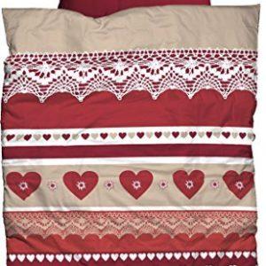 Kuschelige Bettwäsche aus Biber - rot 135x200 von Casatex