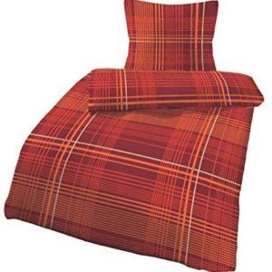 Kuschelige Bettwäsche aus Biber - rot 135x200 von Ido