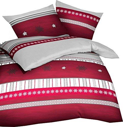 sch ne bettw sche aus biber rot 135x200 von kaeppel. Black Bedroom Furniture Sets. Home Design Ideas