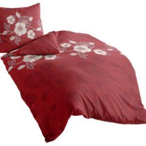 Traumhafte Bettwäsche aus Biber - rot 155x200 von Irisette