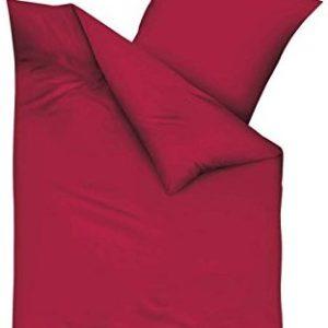 Schöne Bettwäsche aus Biber - rot 155x220 von Kaeppel